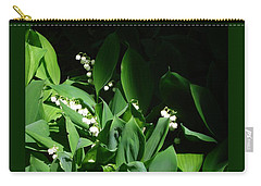 Lily Of The Valley Carry-all Pouch by Patricia Overmoyer