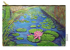Water Lily Canal Carry-all Pouch