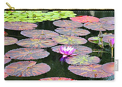 Lily Pads And Parasols Carry-all Pouch