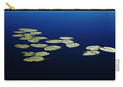 Carry-all Pouch featuring the photograph Lily Pads Floating On River by Debbie Oppermann