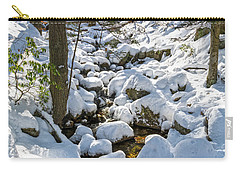 Lily Pads Of Snow Carry-all Pouch