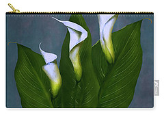 Carry-all Pouch featuring the painting White Calla Lilies by Peter Piatt