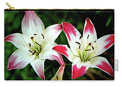 Carry-all Pouch featuring the photograph Lily Pink Reflections by LeeAnn McLaneGoetz McLaneGoetzStudioLLCcom