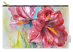 Lily Red Carry-all Pouch by Jasna Dragun