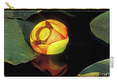 Carry-all Pouch featuring the photograph Lily Reflection by Sandra Bronstein
