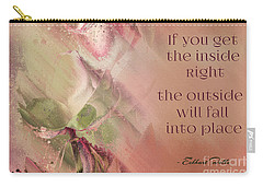 Carry-all Pouch featuring the digital art Lily Text - Et01b by Variance Collections