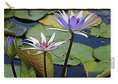 Carry-all Pouch featuring the photograph Lily Trio by Judy Vincent