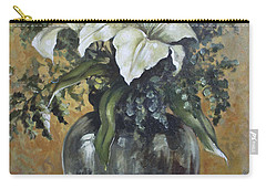 Lily-oil On Canvas Painting Carry-all Pouch