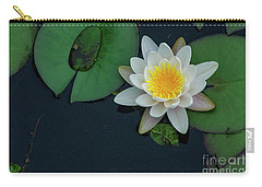 Carry-all Pouch featuring the photograph Lilypad by Debra Fedchin