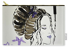 Carry-all Pouch featuring the painting Lily's Dream by Jasna Gopic