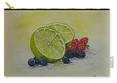Carry-all Pouch featuring the painting Lime And Berries by Kelly Mills