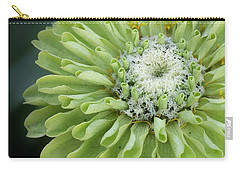 Lime Green Zinnia Carry-all Pouch