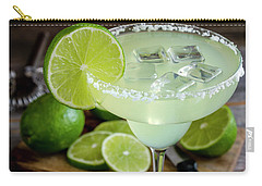 Carry-all Pouch featuring the photograph Lime Margarita Drink by Teri Virbickis