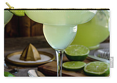 Carry-all Pouch featuring the photograph Lime Margaritas by Teri Virbickis