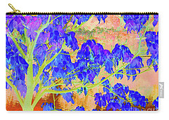 Carry-all Pouch featuring the digital art Lime Tree Sunrise by Ann Johndro-Collins