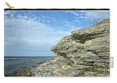 Carry-all Pouch featuring the photograph Limestone Cliffs by Kennerth and Birgitta Kullman