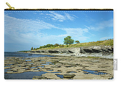 Carry-all Pouch featuring the photograph Limestone Coast Patterns by Kennerth and Birgitta Kullman