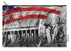 Carry-all Pouch featuring the painting Lincoln Abe by Gull G