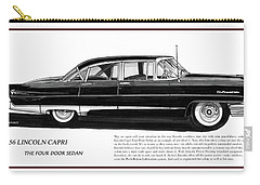 Lincoln Capri 1956 Carry-all Pouch by Jack Pumphrey