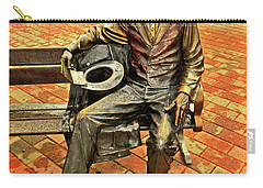 Carry-all Pouch featuring the photograph Lincoln Library Statue 004 by George Bostian
