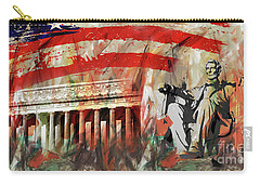 Lincoln Memorial And Lincoln Statue Carry-all Pouch by Gull G