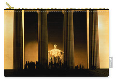 Lincoln Memorial Illuminated At Night Carry-all Pouch by Panoramic Images