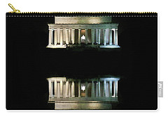 Lincoln Memorial Carry-all Pouch by Lorella Schoales