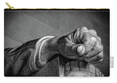 Lincoln's Left Hand B-w Carry-all Pouch by Christopher Holmes