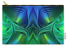 Carry-all Pouch featuring the digital art Line Art by Jutta Maria Pusl