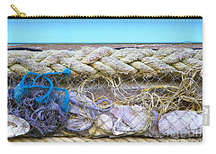 Carry-all Pouch featuring the photograph Line Of Debris II by Stephen Mitchell