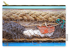 Carry-all Pouch featuring the photograph Line Of Debris by Stephen Mitchell