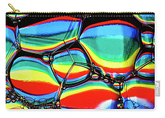 Carry-all Pouch featuring the photograph Lined Bubbles by Jean Noren