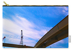 Carry-all Pouch featuring the photograph Lineing The Sky by Jamie Lynn