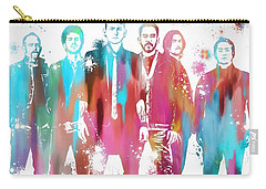 Linkin Park Watercolor Paint Splatter Carry-all Pouch by Dan Sproul