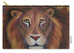 Carry-all Pouch featuring the painting Lion 2017 by Alga Washington