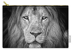 Carry-all Pouch featuring the photograph Lion 5716 by Traven Milovich