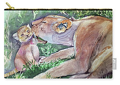 Lion And Cub Carry-all Pouch
