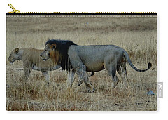 Lion And Pregnant Lioness Walking Carry-all Pouch