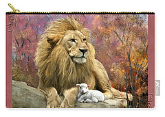 Lion And The Lamb Carry-all Pouch