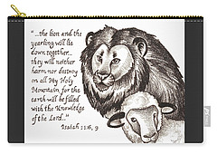 Lion And Yearling Carry-all Pouch