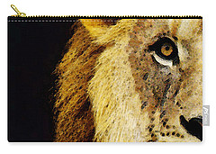 Lion Art - Face Off Carry-all Pouch by Sharon Cummings