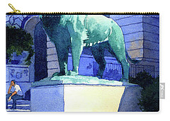 Lion At The Art Institue Of Chicago Carry-all Pouch