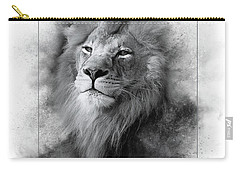Lion Black White Carry-all Pouch