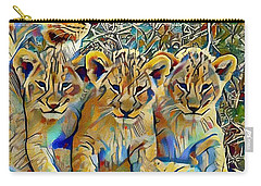 Lion Cubs Carry-all Pouch