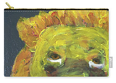 Carry-all Pouch featuring the painting Lion Family Part 1 by Donald J Ryker III
