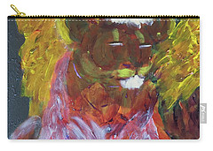 Carry-all Pouch featuring the painting Lion Family Part 4 by Donald J Ryker III