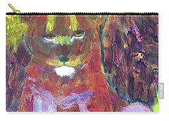 Carry-all Pouch featuring the painting Lion Family Part 5 by Donald J Ryker III