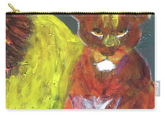 Carry-all Pouch featuring the painting Lion Family Part 6 by Donald J Ryker III