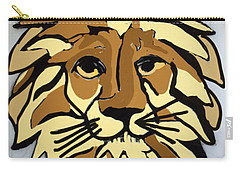 Lion Front Carry-all Pouch by Erika Chamberlin
