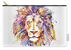 Lion Head Carry-all Pouch by Marian Voicu